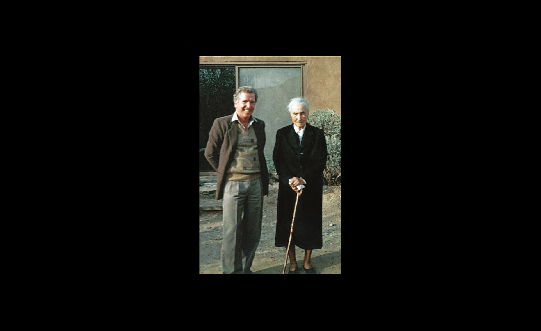 Arthur Erickson with Georgia Okeefe