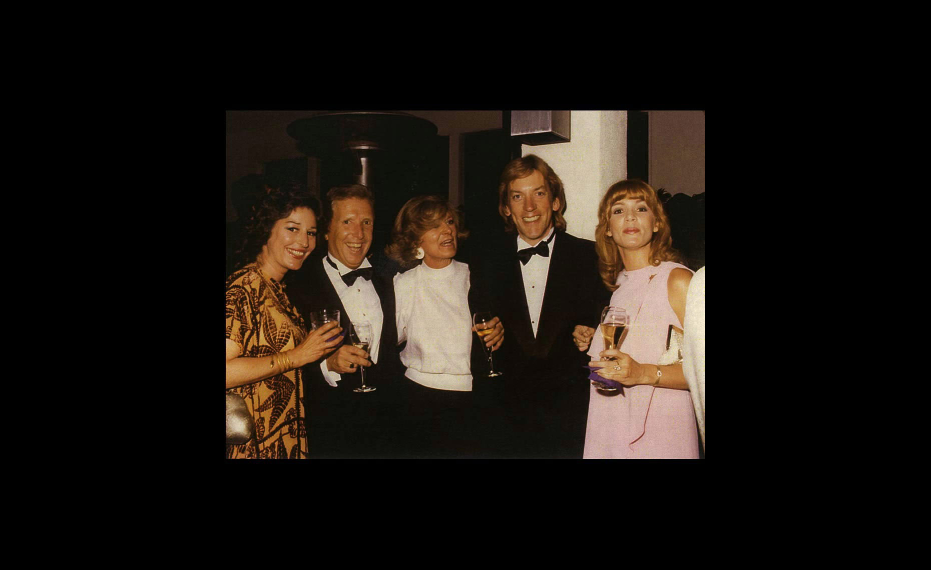 Arthur Erickson with Donald Sutherland and  friends